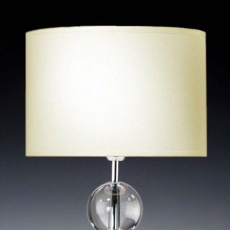 Lampenschirm EDITION Glas Kristall D6 Rund Creme Trommelförmig Baumwolle