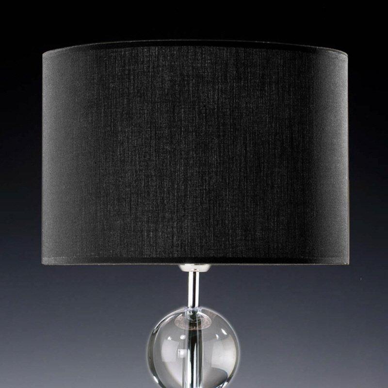 lampenschirm edition glas kristall d6 rund schwarz trommelf rmig baumwolle eur 16 90. Black Bedroom Furniture Sets. Home Design Ideas