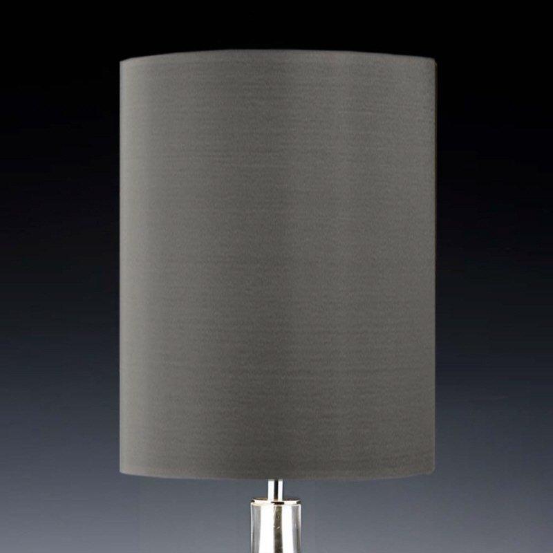 lampenschirm edition glas kristall d9 rund grau r hrenf rmig baumwolle eur 25 90 leuchten. Black Bedroom Furniture Sets. Home Design Ideas