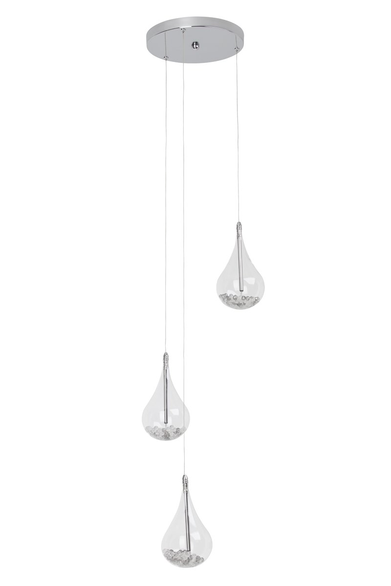 brilliant leuchten no g14776 15 pendelleuchte maira 3 flammig chrom transparent eur 115 48. Black Bedroom Furniture Sets. Home Design Ideas