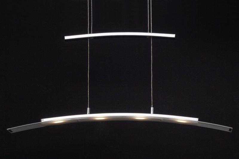 brilliant leuchten no g93451 75 pendelleuchte led bernadette 4 flammig chrom wei eur 140 23. Black Bedroom Furniture Sets. Home Design Ideas