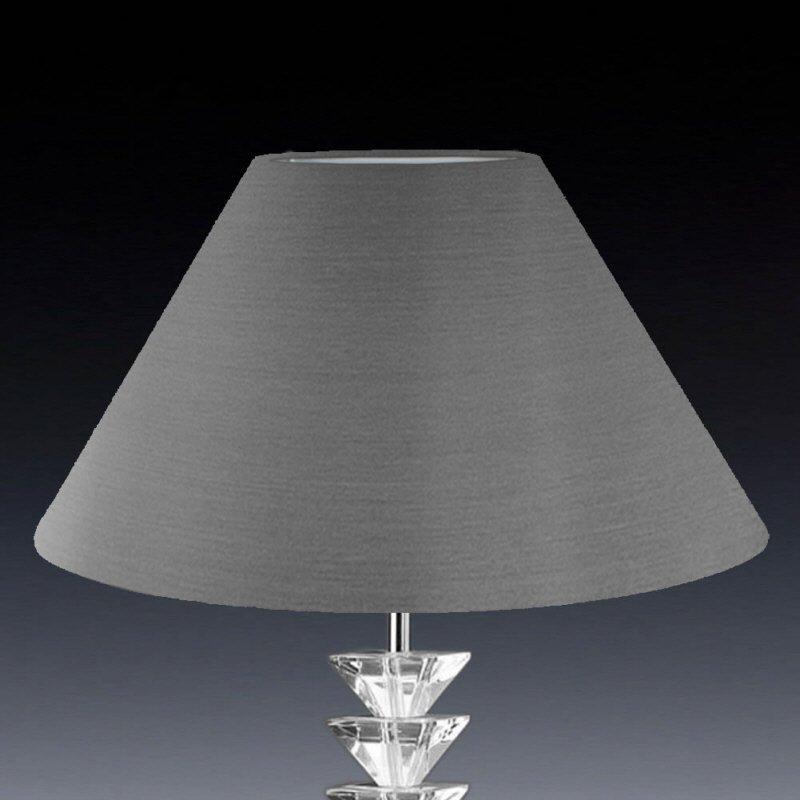 lampenschirm edition glas kristall k2 konisch rund grau seide eur 35 00 leuchten lampen. Black Bedroom Furniture Sets. Home Design Ideas