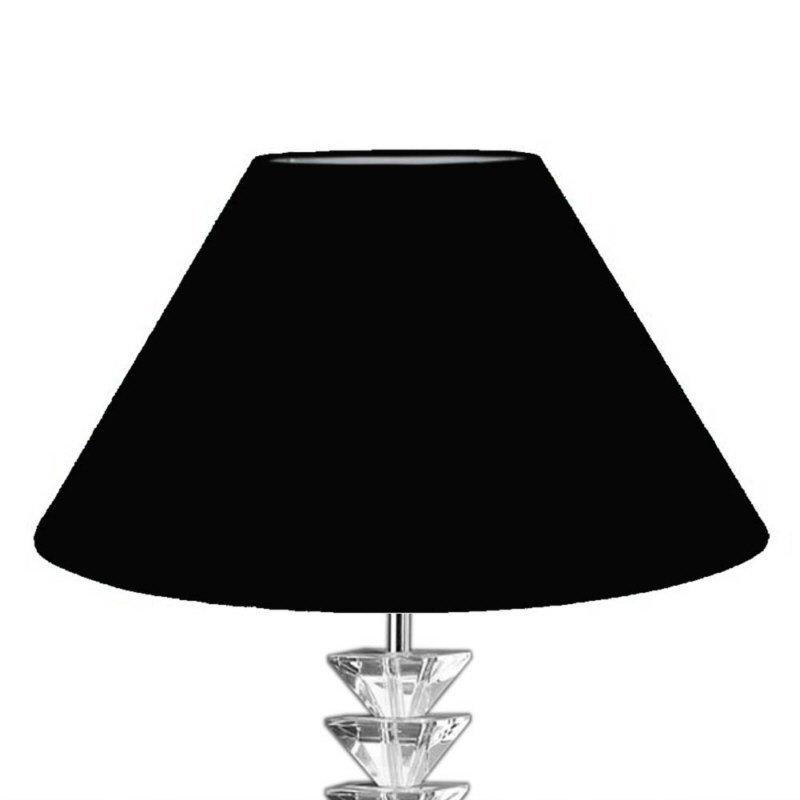 lampenschirm edition glas kristall k2 konisch rund schwarz baumwolle eur 29 90 leuchten. Black Bedroom Furniture Sets. Home Design Ideas